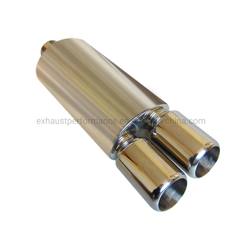 Stainless Steel Noise Reduction Polished Exhaust Muffler