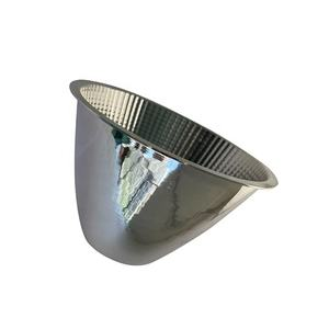OEM aluminium lamp cover of Chrome vacuum plating by CNC Metal Spinning Manufacturer