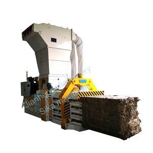 Automatic horizontal hydraulic waste paper cardboard press machine baler machine