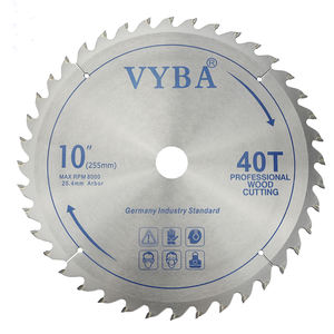 professional power tools accessory of 10 inch wood cutting TCT saw blade