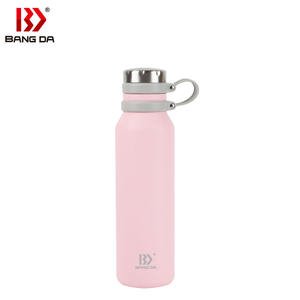 Hot and cold drink double walled copper plating vacuum stainless steel water bottle insulated