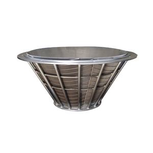 China SUS316 industrial ss johnson pressure wedge wire centrifuge basket screen for fine coal