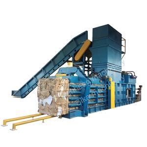 Fully Automatic Horizontal Cardboard OCC Waste Paper Baler Machine Baling Machine Press Machine
