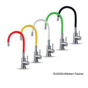 Utility Flexible Hose Color Kitchen Spout Kitchen Sink Faucet with Stainless Steel Hoses for Home