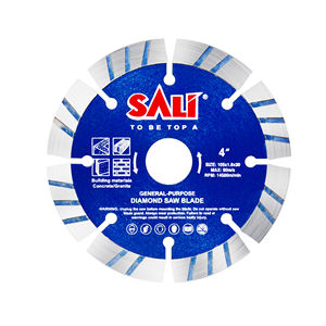 SALI Power Tools Segment Turbo Diamond Blade Ceramic Building Material Cutting Concrete Granite 4inc