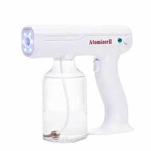 Wireless handhold nano sprayers gun Portable Blu-Ray Anion Nano Disinfection Spray Gun Nano Steriliz