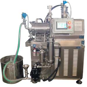4KW Lab nano scale sand mill is suitable for ink paint or ceramics ink or nano pigment