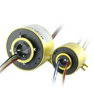 Slip Ring 18 Wires Bore Size 50mm Moflon Electric Through Hole Carbon Brush Slip Ring Rotary Unio