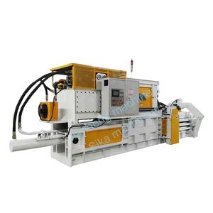 Full Automatic Horizontal Hydraulic Waste Paper Cardboard PET Bottle Baler Machine Baling Machine