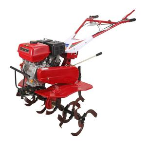4 stroke gas powered walk behind garden cultivators with standard accessories tires and rotary blade