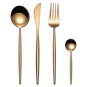 Whosale rose gold cutlery,copper flatware set,wedding gold/rose gold cutlery set brass rose gold sta