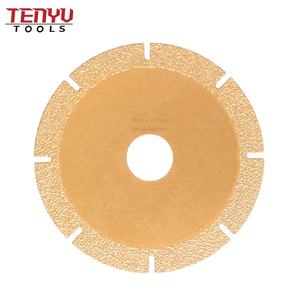 Professional Continuous Vacuum Brazed Diamond Saw Blades Tools for Glass Cutting Disc Diamond Blade