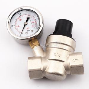 Lead-Free High Pressure PRV Adjustable Water Pressure Reducing valve with gauge