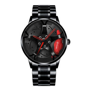 Automatic movement cheap mens sports wrist watches luxury vacuum plating wheel style non-mechanical