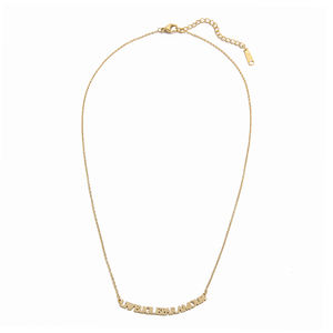 Spot Wholesale New Vacuum Plating Non Tarnish Gold Stainless Steel Letter Necklace Jewelry