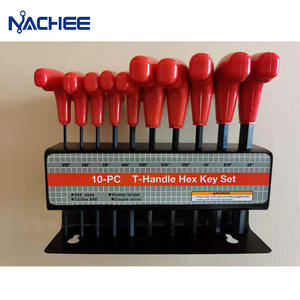 10pcs T-Handle Hex Key Allen Wrench Tool Set Allen Wrench Non-slip Wrenches Hand Tools Hex T-handles