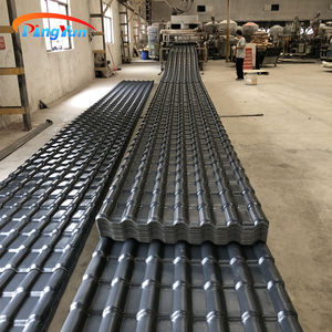 Heatproof plastic roof shingles ASA UPVC roofing sheet spanish roof tile clay for villa house