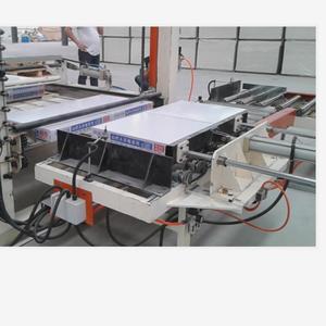 PVC/PET film laminating machine for gypsum board cutting system