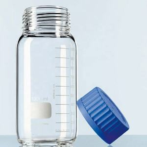 Labs Storage Bottles glass reagent bottle with Blue GL80 Screw lid