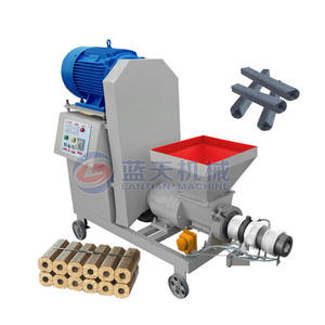 Rice husk sawdust charcoal briquette extruder machine production line from biomass