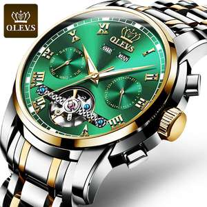OLEVS Top Luxury Brand 6607 Men Business WristWatch Waterproof Auto Mechanical Watch Minimalist Clas