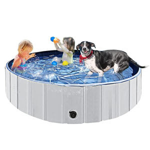 Wholesale Foldable Hard Plastic Tub PVC Outdoor Dog Pet Pool Bathing Kiddie and Dog Pool for Dogs Ca