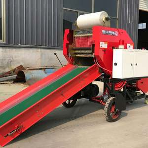 Hydraulic Automatic Fodder Packing Machine Round Hay Silage Balers Cover Machine For Sale