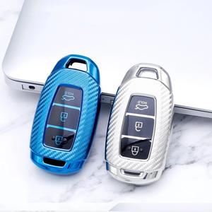 TPU Key Fob Cover for 2019 Santa FE i30 ix35 3 Buttons 2017-2019 Veloster Kona Azera smart car key h