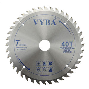 Woodworking power tools accessory 7inch saw blade for wood cutting