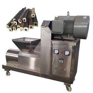 Screw Press Small Corn Stalk Cow Dung Charcoal Biomass Wood Sawdust Briquettes Making Machine