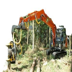 forestry tree harvester automatic whole tree felling machine cutting machine cutter keto wood splitt