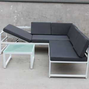 new style metal furniture aluminum garden sofa set outdoor furniture