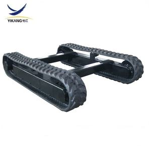 6 tons agricultural harvester parts rubber track undercarriage for tracked vehicles