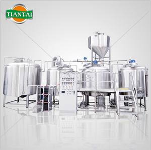 TIANTAI 8bbl 1000 liter Automatic PLC controlled steam 3 vessel brewery equipment cost SUS304 stainl
