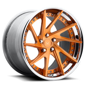 New Style 22inch Brush Copper Face 2-PC Forged Alloy Rims With 5-112 For SQ5 5x112
