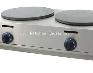 2-Plate Gas crepe maker machine