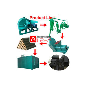 competitive price complete biomass cheap charcoal briquette production line from wood sawdust coconu