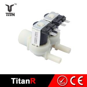 Water treatment shower faucet magnetic solenoid valves