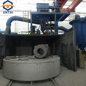 casts and forged parts pressed parts steel swing table shot blasting machine