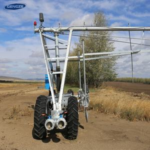 4-whee agricultural farm lateral axial pivot irrigator in farm irrigation systems