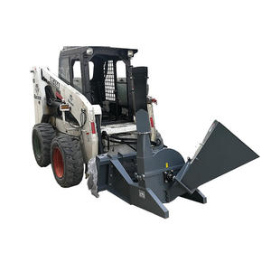 Mini Forestry Machinery Skid Steer Loader Attachments Wood Chipper Machines