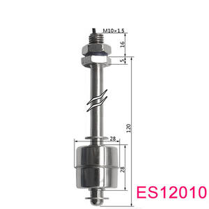 High quality fuel tank Stainless Steel level float switch M10* 120mm SUS304 SUS316