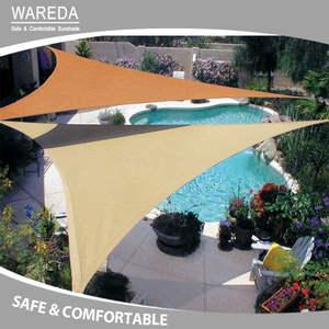 HDPE shade sails anti uv sunshade sail for swimming pool