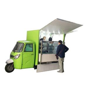 CE ISO9001 Piaggio Ape Street 3 Wheel Mobile Food Cart For Hot Dogs Cart