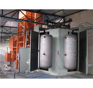 For Saudi Ceramics enamel water heater sand blasting line