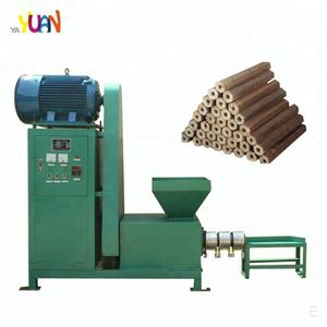 Biomass Rich husk wood sawdust charcoal briquette making machine