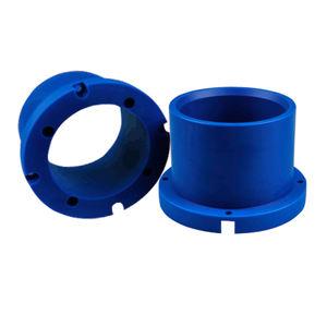 China manufacture cnc plastic fabrication products Nylon pom hdpe uhmwpe bushing for plastic flange