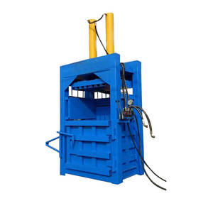 Automatic plastic baler machine waste paper balermachine pet bottle bailing press machine used cloth