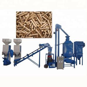 LEABON Machinery Offer Production Line Used Wood Log Pelletizer Sawdust Biomass Pellets Making Machi