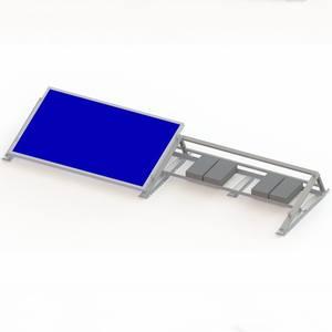 Factory Supply Solar Energy Support Flat Roof Aluminum Ballasted Solar Mounting Racks For Solar Moun